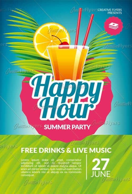 Creative Happy Hour Flyer Templates