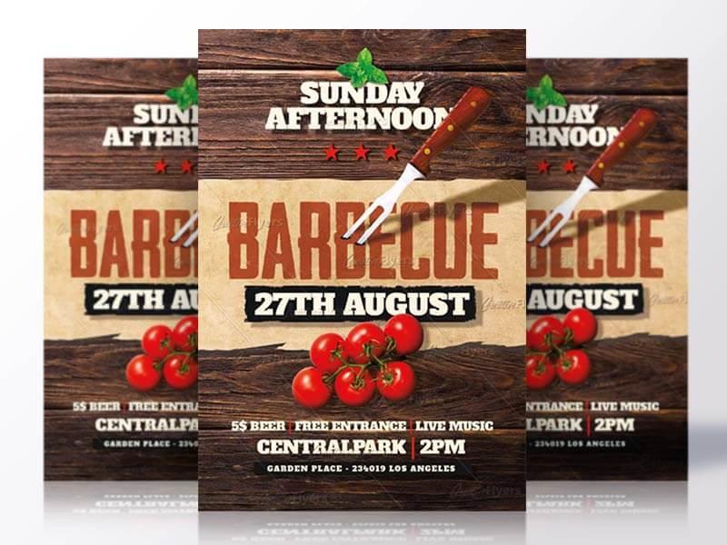 Creative Barbecue flyer templates