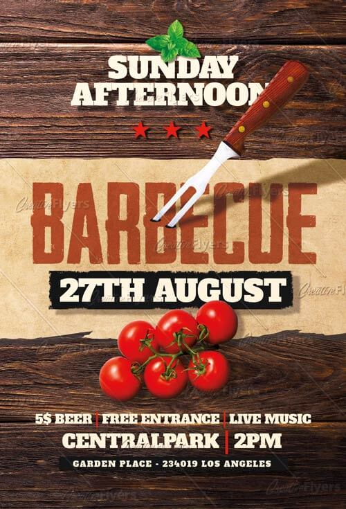 Barbecue flyer templates