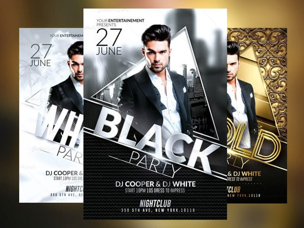 Club party flyer templates
