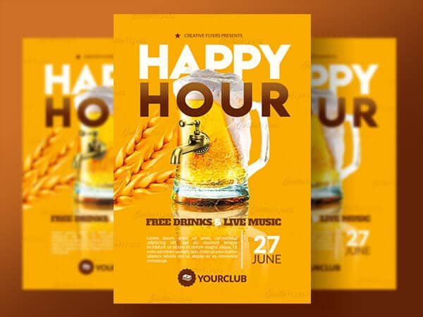 Happy Hour Party Flyers