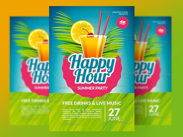 Happy Hour Psd Flyer