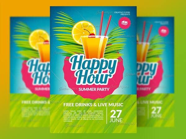 Happy Hour Psd Flyer