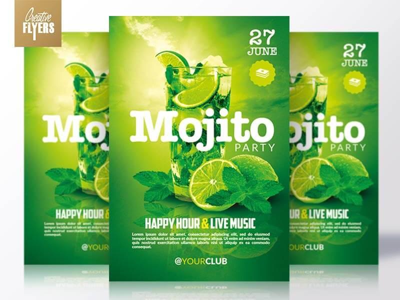 Creative Happy hour flyer templates