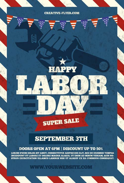 Labor Day Psd Flyers