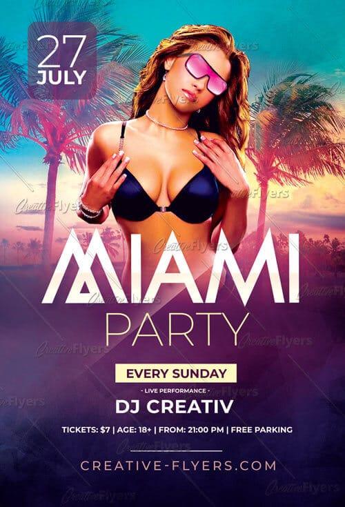 Miami Summer Party Flyer