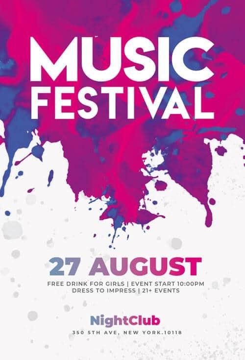 Music Festival Flyers Psd