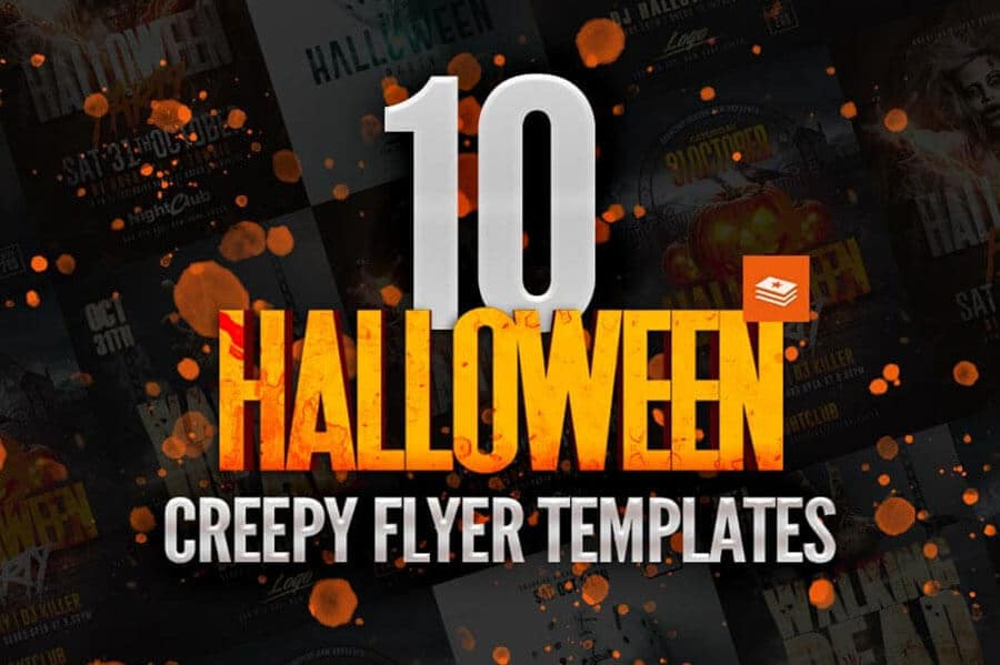 10 creepy halloween flyer templates