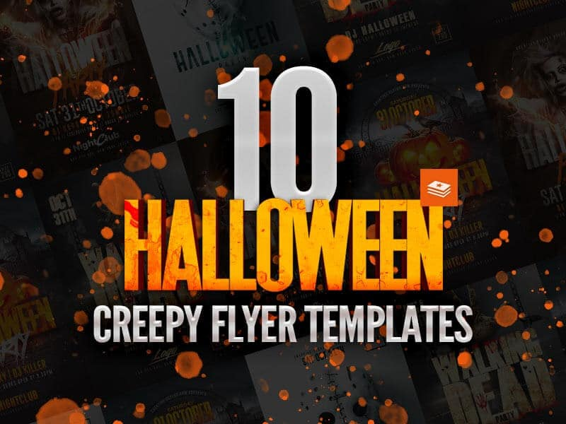 10 creepy halloween flyer templates