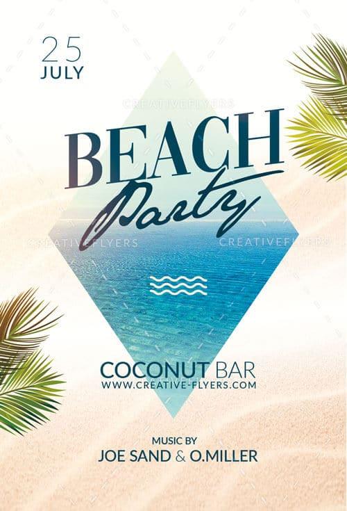 Beach Party Flyer Design