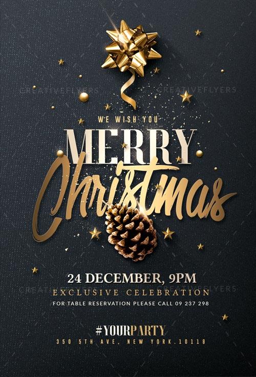 Christmas Invitation Psd