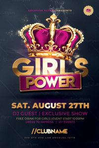 Girls Power flyer Templates
