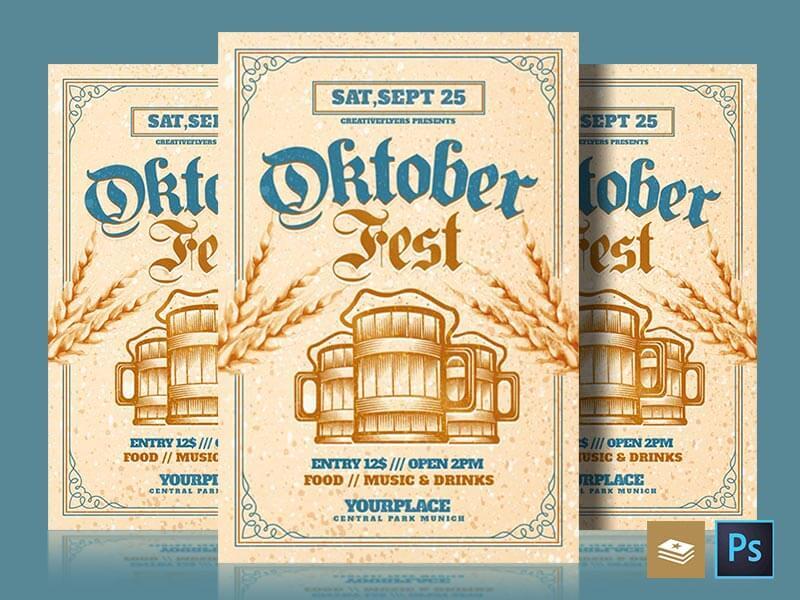 Oktoberfest flyer psd