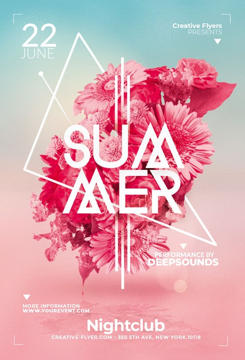 Minimalist Summer flyer Template