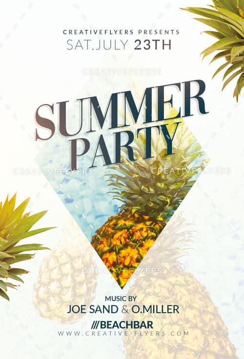 Summer flyer templates