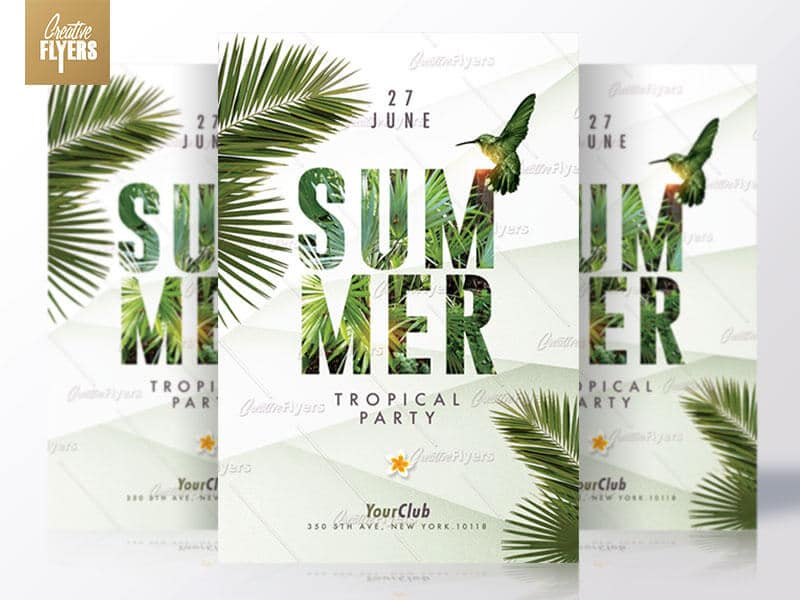Creative summer Flyers