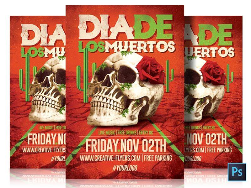 Dia de los muertos flyers