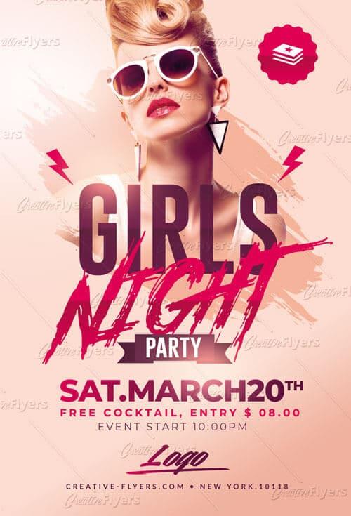 Girls Night Party Flyer