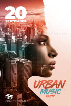 Urban Music Poster Psd