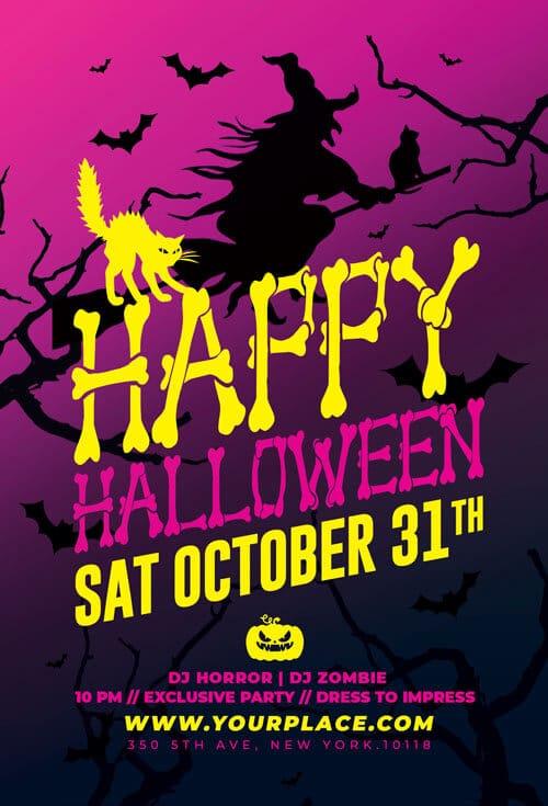 Happy Halloween Party flyer template