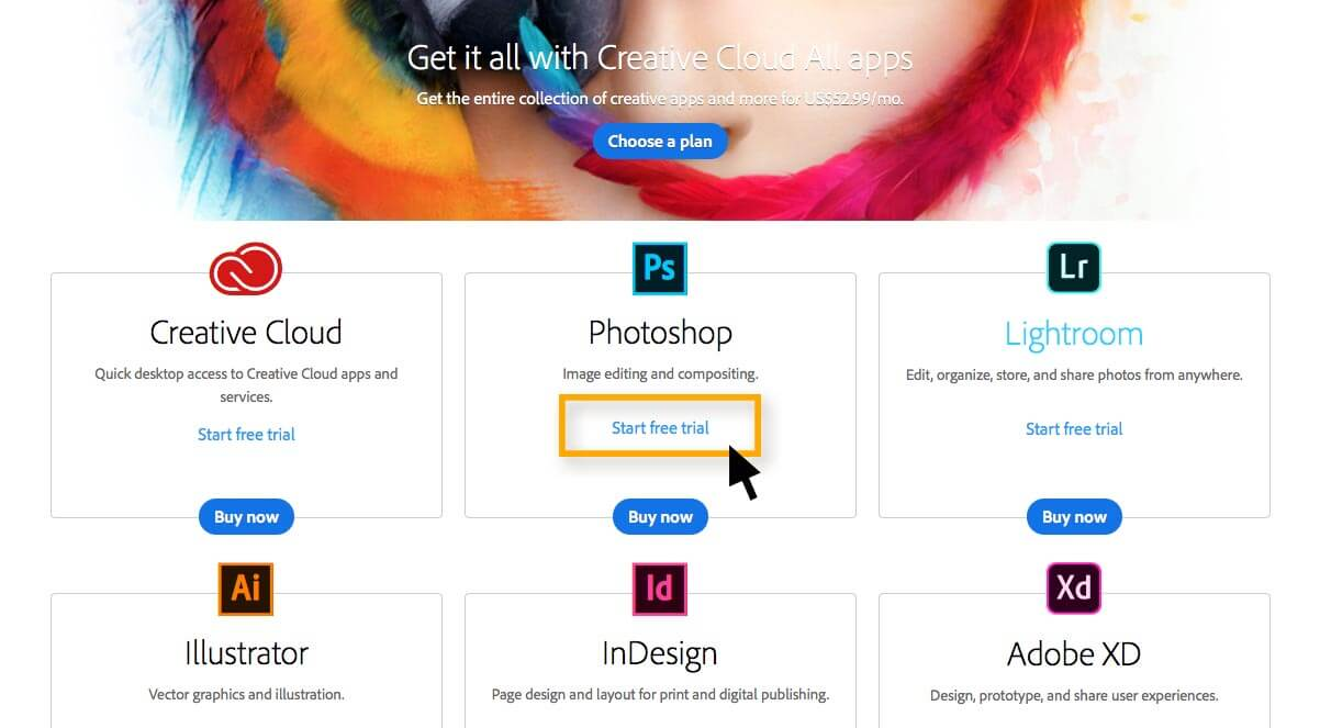 Photoshop free trial