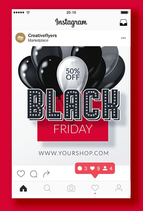 Black Friday square web banner