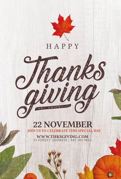 ThanksGiving flyer template Psd