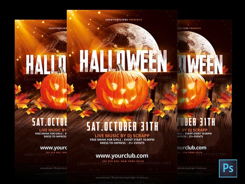 photoshop halloween invitation