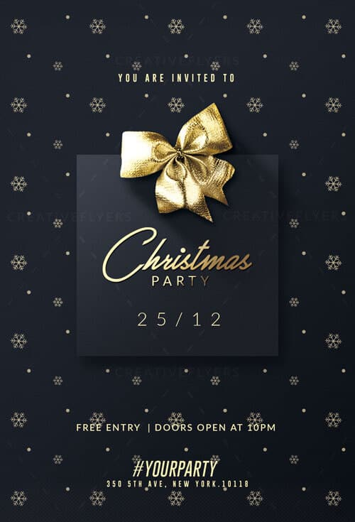 Christmas Party Flyer.Christmas Party Flyer Template