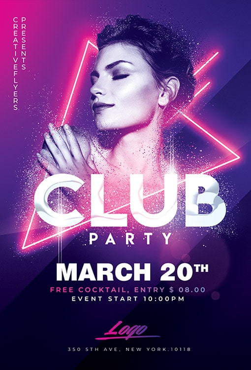 Best Club Party Flyer PSD Templates - Creative Flyers