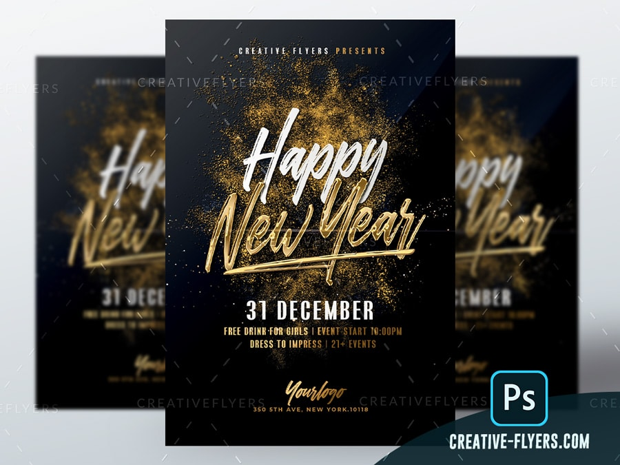 Gold New year Template