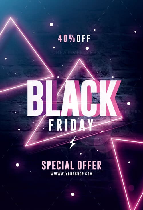 Modern black friday Flyer