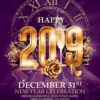 Elegant New year flyer template