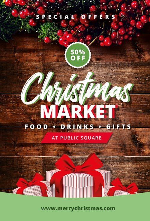 Christmas Flyers.Christmas Market Flyer