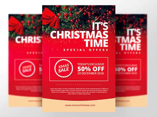 Christmas marketing flyer