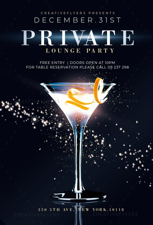 Private Party Flyer Template