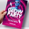 Glow flyer template