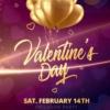 Pink Valentines day flyer