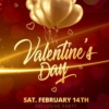 Red Valentines Day Flyer
