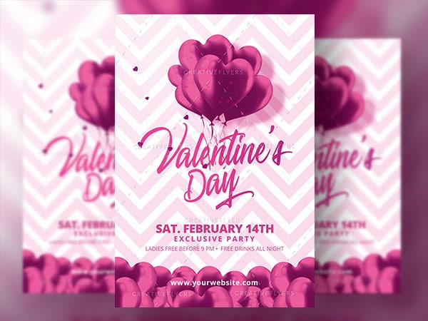Valentines day Invitation Psd