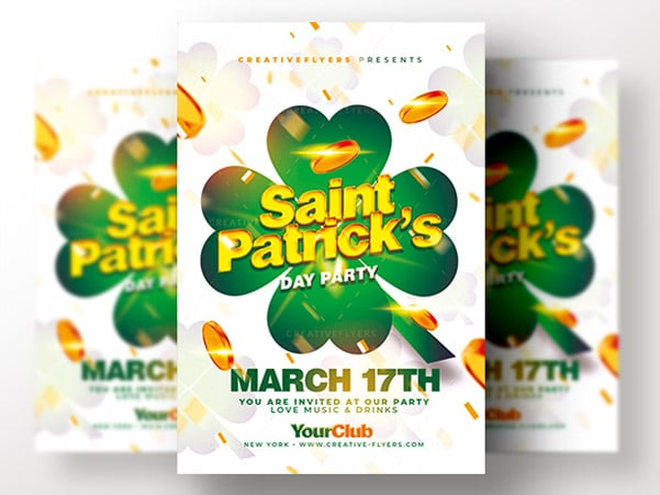 St Patrick Invitation Photoshop