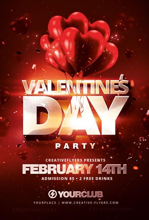 Photoshop flyer for Valentine