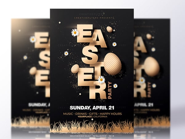 Easter flyer psd Preview