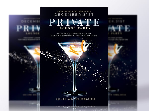 Private Party Flyer Psd