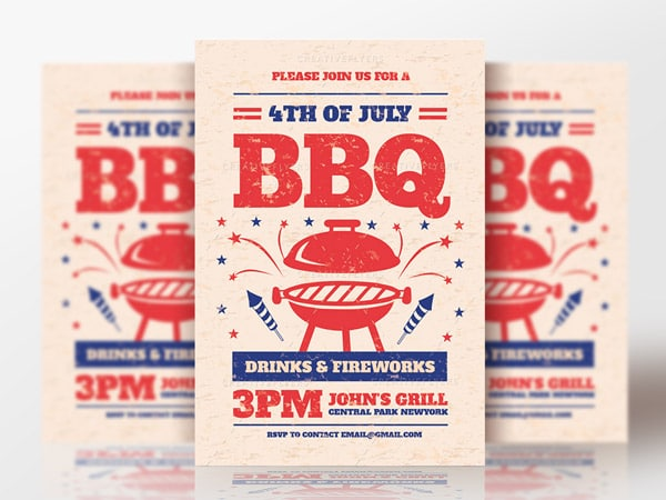 BBQ Party Flyer Psd