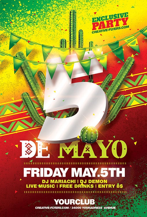 Cinco De Mayo Template Free from www.creative-flyers.com