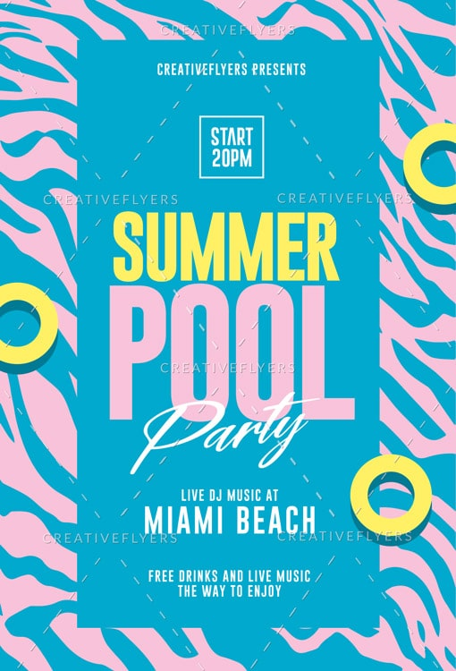 Summer Pool Party Flyer
