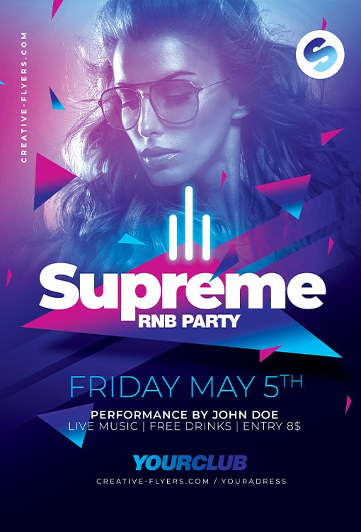 Supreme Party Flyer PSD For Photoshop - Creative Flyers