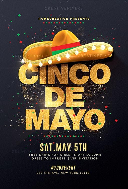 Cinco de Mayo flyer for adobe photoshop