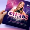 Girls Party Flyer psd